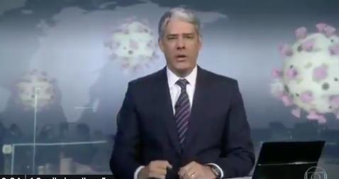 Bonner puxa orelha de Bolsonaro durante o JN