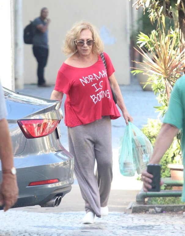 Parte do grupo de risco da COVID-19, Arlete Salles vai ao mercado no Rio