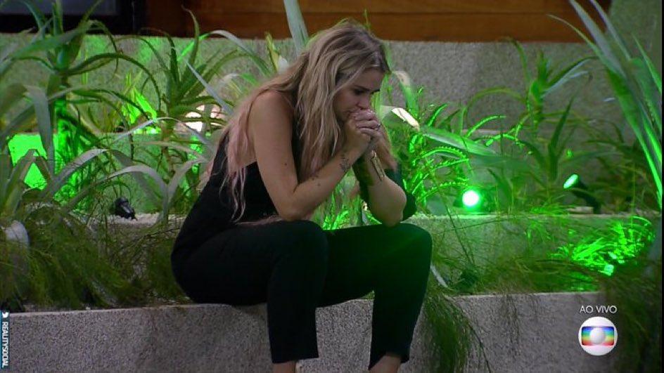 Marcela lamenta a saída de Pyong do BBB20.