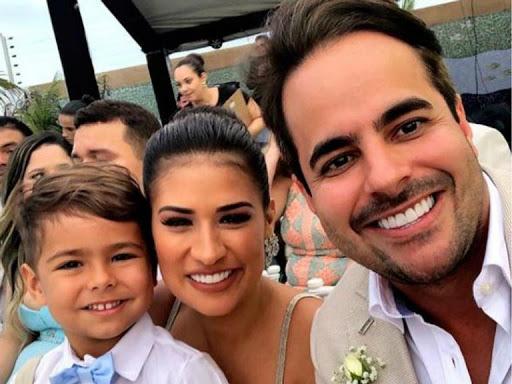 Henry, Simone e seu marido Kaká
